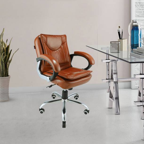 Aaron Leatherette Study Arm Chair