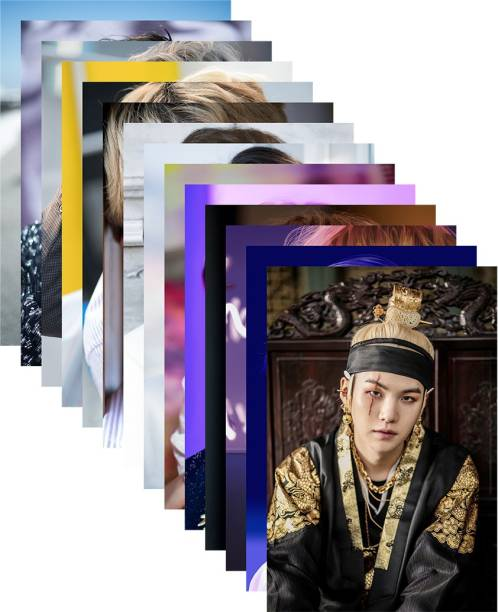 Pack of 14 BTS Band Members Photos   for BTS lovers   HD Quality Photographic Paper