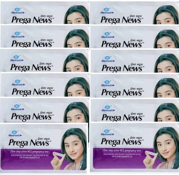 PREGANEWS 12pieces HCG Pregnancy Kit Pack Of 12 Digital Pregnancy Test Kit