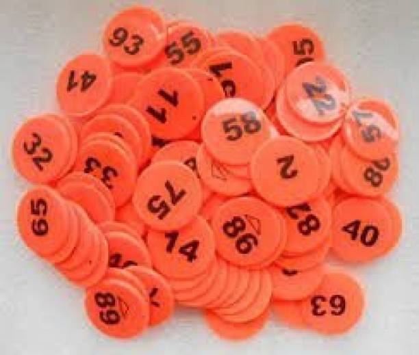 The Mark Plastic Token Coins/Number Coins 1 to 100