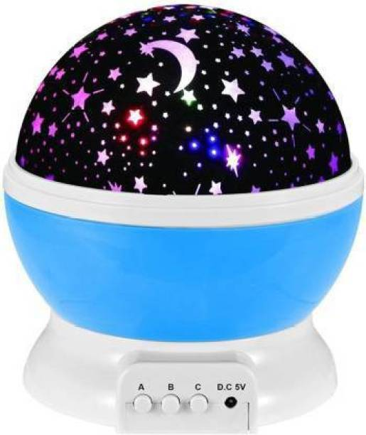 Unique Buyer Romantic Sky Star Master Night Light Projector Children Kids Baby Sleep Lighting USB Lamp Led Projection Plastic Glass Rotating 4 Mode Sky Star Master Mini Projector Lamp for Kid's Room Decor Rotating LED Star Moon Night Lamp Plastic Star Projector Romantic LED Night Light 360 Degree Rotation 4 LED Bulbs 9 Light Color Changing with USB Cable (Multicolour) Romantic Sky Star Master Night Light Projector Children Kids Baby Sleep Lighting USB Lamp Led Projection Night Lamp (13 cm, Multicolor) Table Lamp