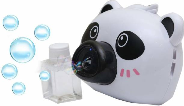 Joy Bukket Bubble Camera Series, Camera Shape Bubble Machine with Bubble Solution for Kids - Automatic Bubble Blower Machine with Music and Light (White) Toy Bubble Maker