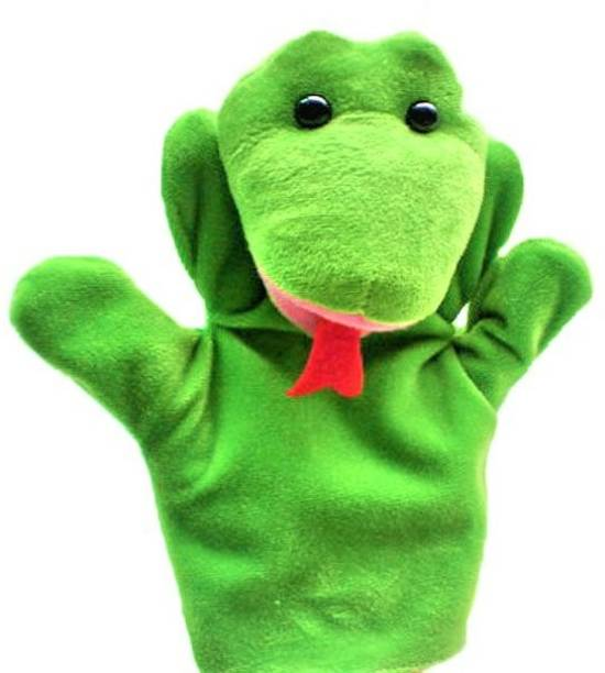 Kuhu Creations Green Snake Hand Puppets