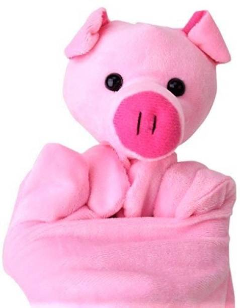 Kuhu Creations Pink Pig Hand Puppet Hand Puppets