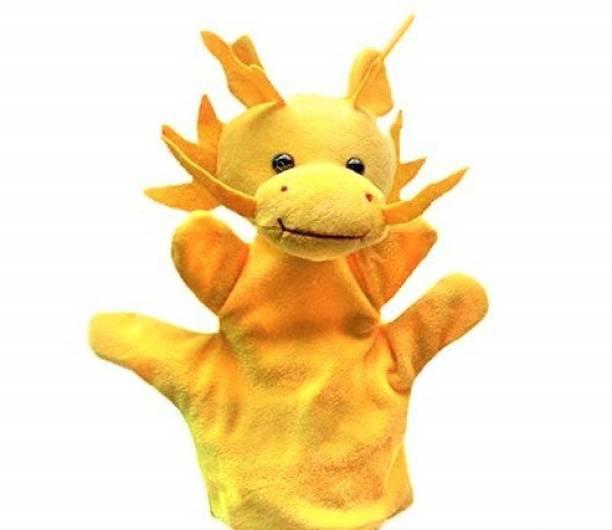 Kuhu Creations Yellow Dragon Hand Puppets