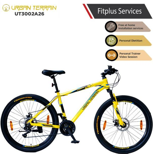 Urban Terrain UT3002A26 Alloy MTB with 21 Shimano Gear and Installation services 26 T Mountain/Hardtail Cycle
