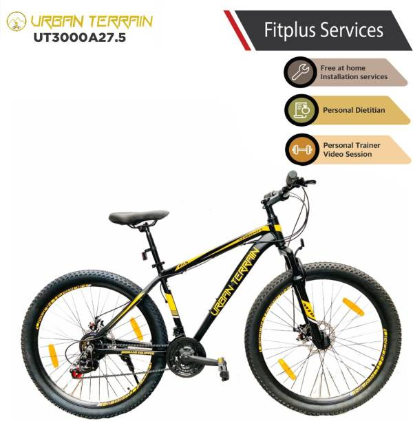 Urban Terrain UT3000A27.5 Alloy MTB with 21 Shimano Gear and Installation services 27.5 T Mountain/Hardtail Cycle