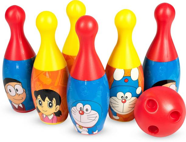 Doraemon 6-Pin and Ball Set for Bowling