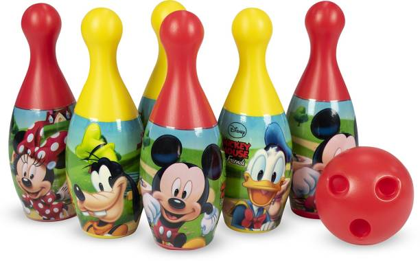 DISNEY Mickey & Friends 6-Pin and Ball Set for Bowling