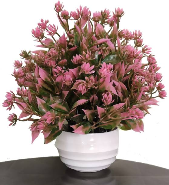 BK Mart Best For Home/Office Table Decoration or Gift Table Flower Pot Bonsai Wild Artificial Plant  with Pot