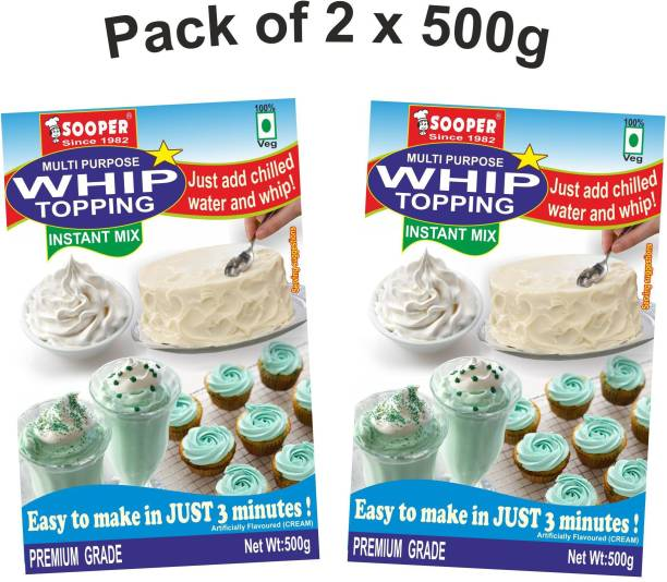 SOOPER WHIP TOPPING MIX 2x500g PACKS Topping