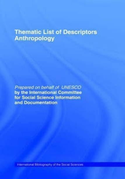 Thematic List of Descriptors - Anthropology