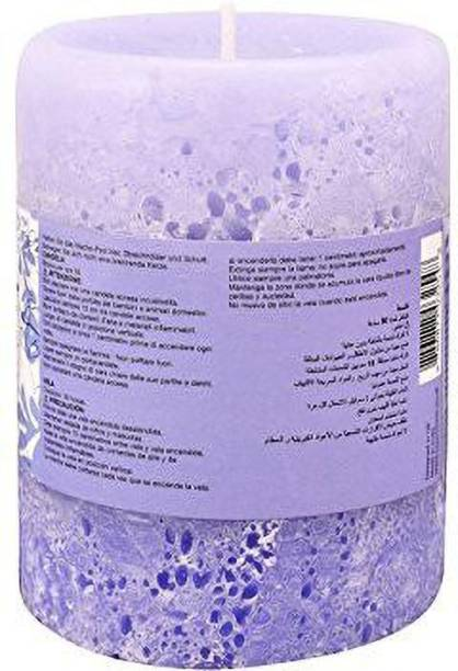 ROSeMOORe Lavender Blue Fragrant Scented Pillar Candle for Home, Bedroom Candle