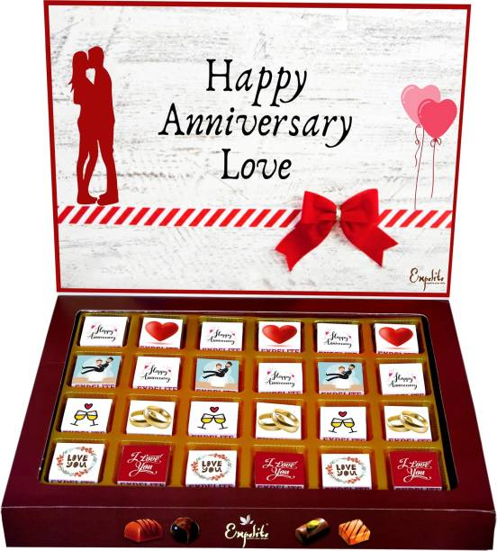 Expelite Happy Anniversary Gift For Love - 24 Pc Chocolate for Anniversary Bars