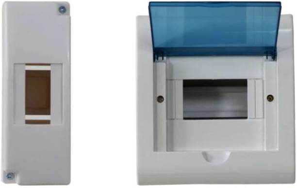 Suntech Industries 1/2 POLE ENCLOSURE PLASTIC ABS DISTRIBUTION BORD MCB BOX ..2 Way. Distribution Board