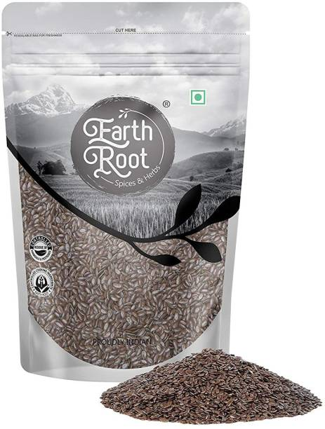 EARTHROOT Natural Raw Flax Seed | Alsi Seed | Linum Usitatissimum seed - Loaded with Omega 3 , Anit Oxidant - (400g)
