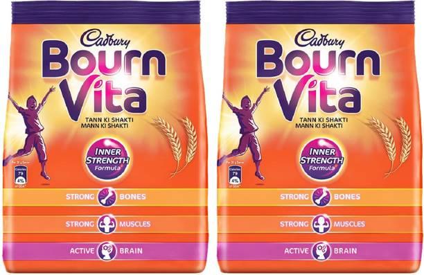 Cadbury Bournvita Inner strength 500 Gm Pouch (Pack of 2) Energy Drink
