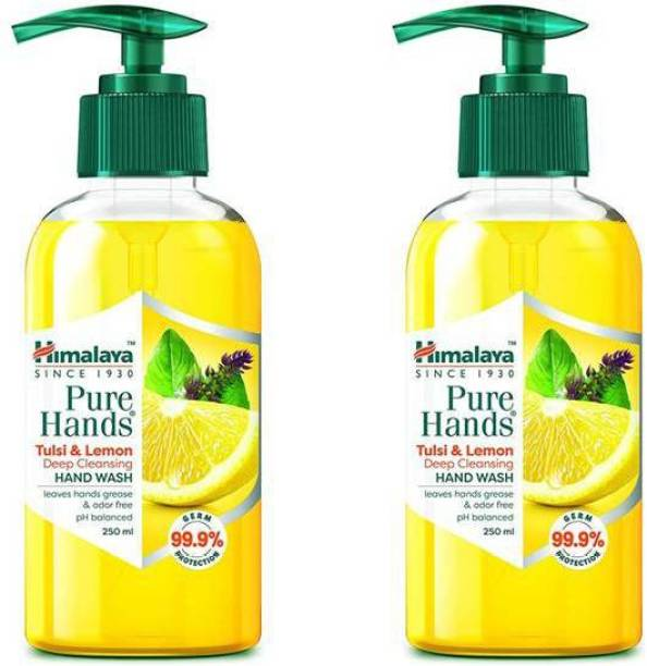 HIMALAYA PURE HANDS - HAND WASH WITH TULSI & LEMON (2N X 250ml) Hand Wash Pump Dispenser