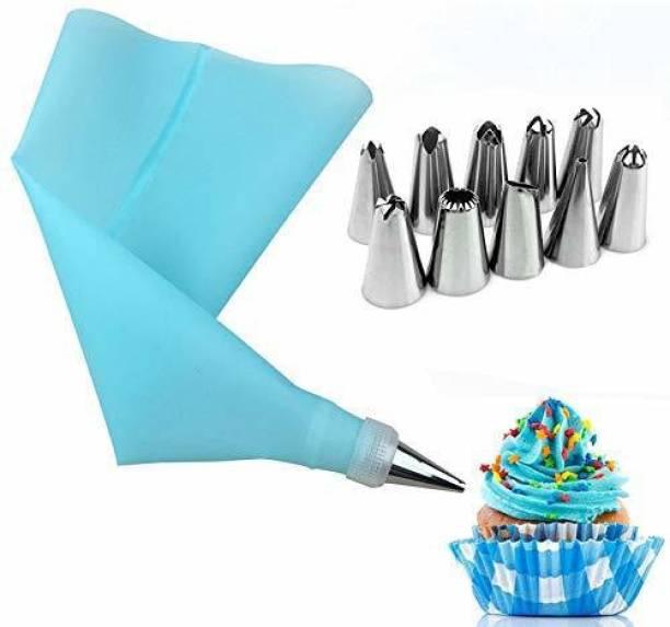 RV kitchenware Premium quality 12 Piece Cake Decorating Set cake piping bag with nozzles Cake Decoration Icing Set