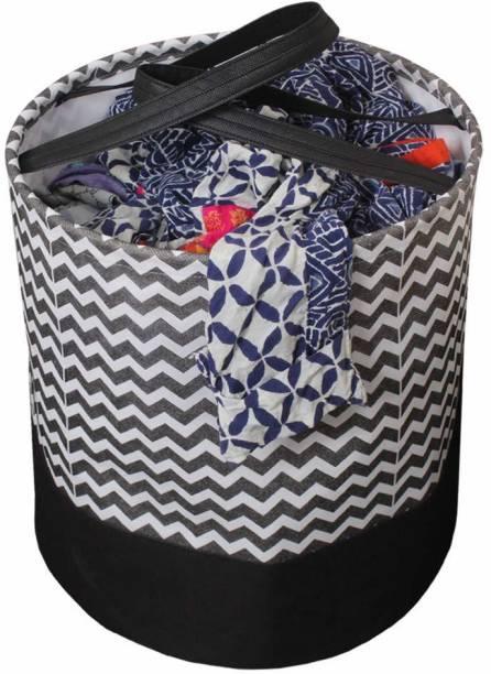 Flipkart SmartBuy 45 L Black, White Laundry Basket