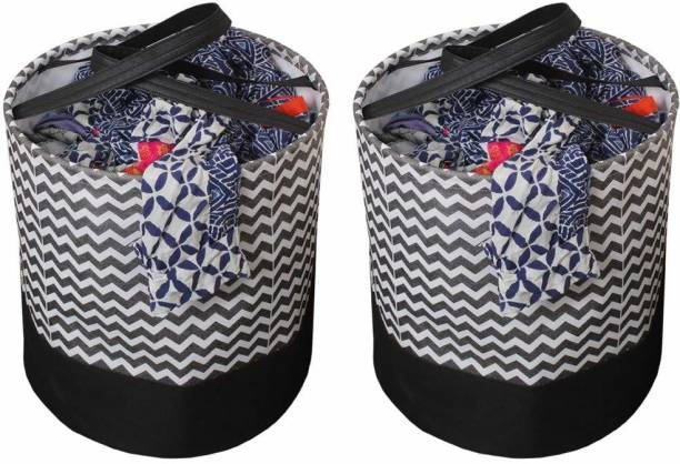 Flipkart SmartBuy 90 L Black Laundry Basket