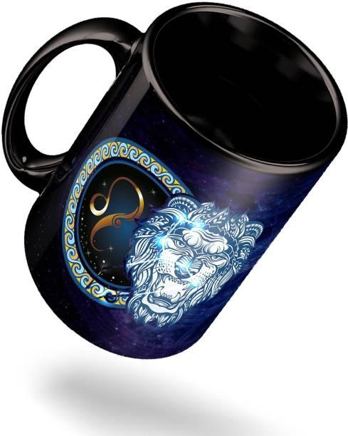 ECFAK Zodiac Leo Ceramic Coffee Mug