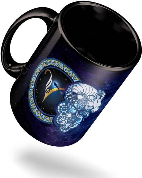 ECFAK Zodiac Aries Ceramic Coffee Mug