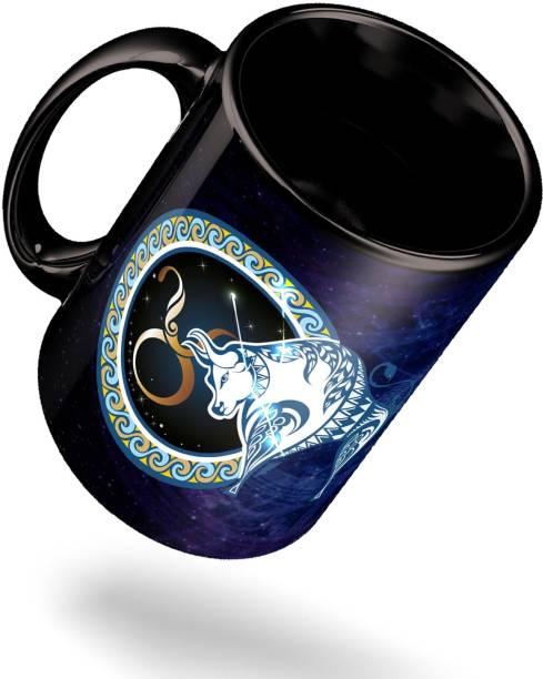 ECFAK Zodiac Taurus Ceramic Coffee Mug