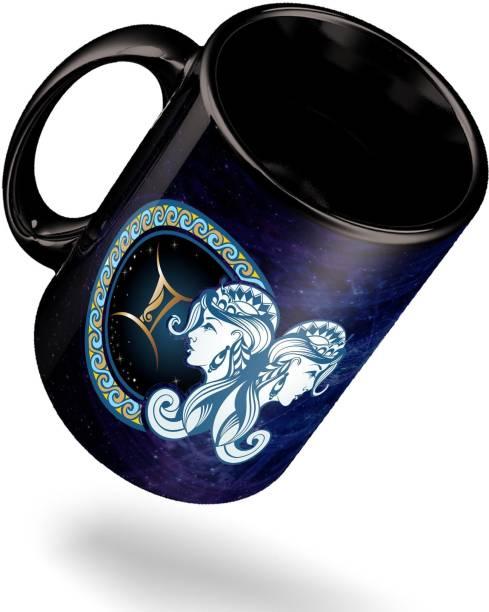ECFAK Zodiac Gemini Ceramic Coffee Mug