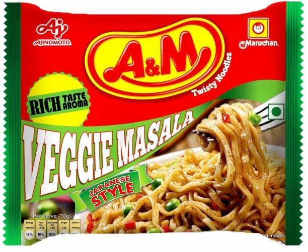 A & M Noodles Value Pack:- Veggie Masala (Pack of 9) Instant Noodles Vegetarian