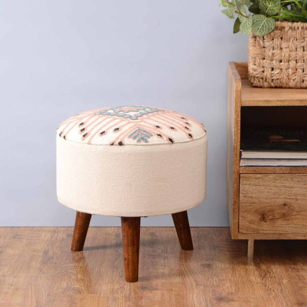 Natural Furnish Solid Wood Pouf