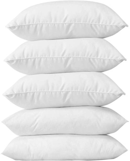 Discount Master Polyester Fibre, Cotton Solid Sleeping Pillow Pack of 5