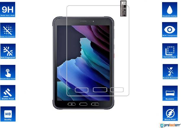 PROTECTERR Tempered Glass Guard for SAMSUNG GALAXY TAB ACTIVE