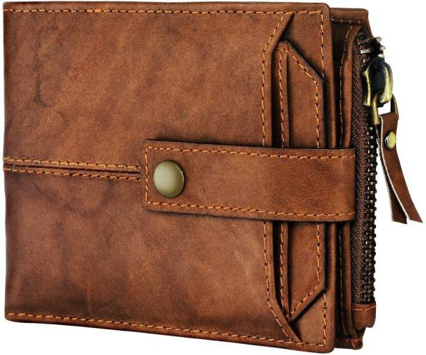 SPIFFY Men Casual Brown Genuine Leather Wallet