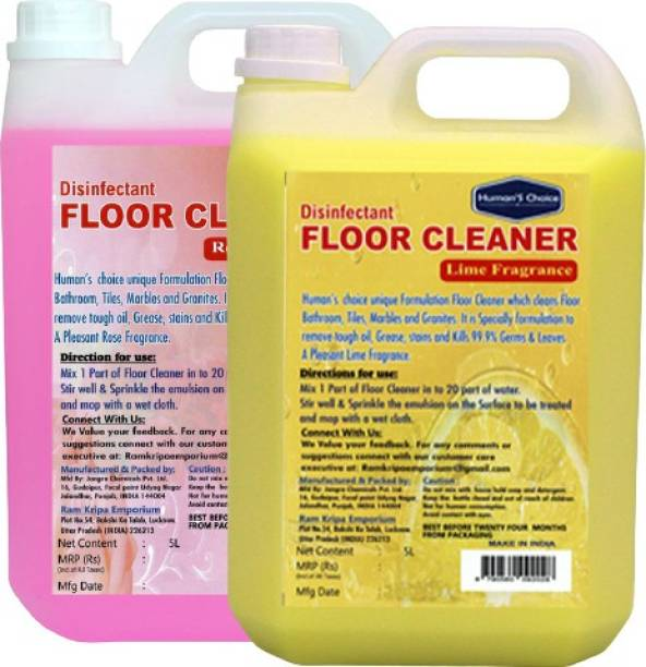 Humans choice Floor Cleaner Rose + Lime 5L Each pack of 2 Lime fragrance