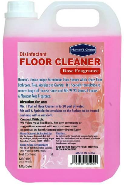 Humans choice Rose Floor Cleaner 5 L Rose