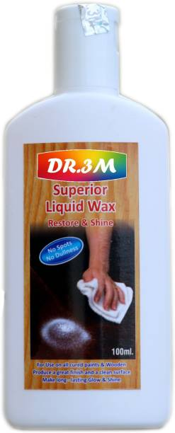 dr.3m DR3M RSSJ302-Superior Liquid Wooden Wax Polish 100ml (Removes Stains and Restores Shine)