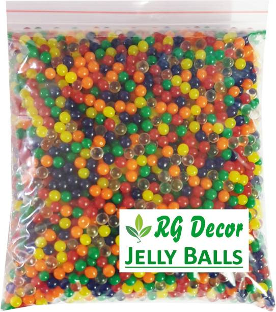 RGDECOR Magic Crystal Water Jelly Balls [Multicolour] used for Decoration [Pack of 1000 pcs. water balls Aprrox.]