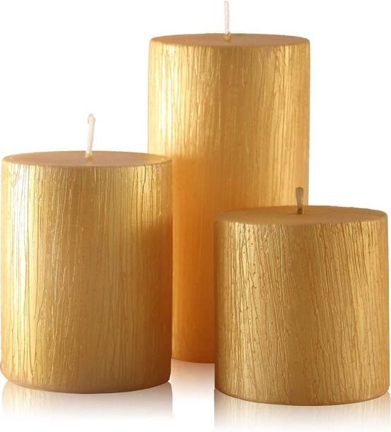 Floryn decor Rustic Metallic Gold Candle