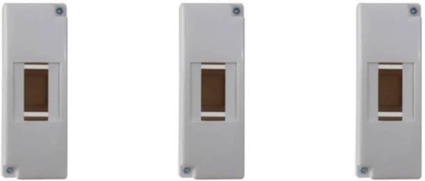 Suntech Industries 1/2 POLE ENCLOSURE PLASTIC ABS DISTRIBUTION BORD MCB BOX ..2 Way Distribution Board