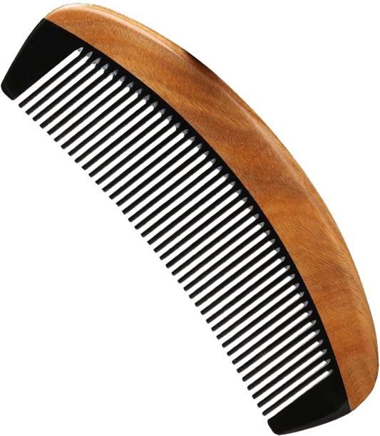 "Ginni Marketing Handmade Fine Tooth Buffalo Horn Wooden Comb(Size-6"")"