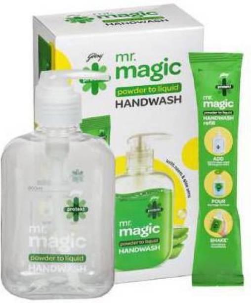 Godrej Protekt mr.magic powder to liquid Hand Wash Pump Dispenser (9 g) Hand Wash Pump Dispenser