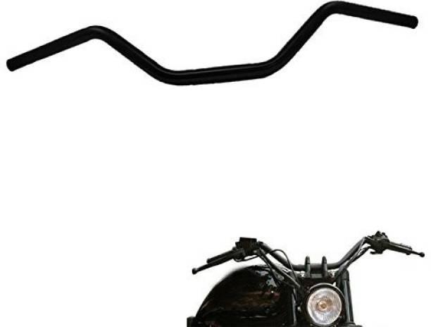 Golden Fox Stainless Black Universal handle bar for all bike Handle Bar