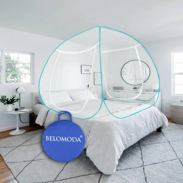 BELOMODA Polyester Adults Blue Mosquito Net Polyester Adults Net King Size Double bed Mosquito Net Mosquito Net