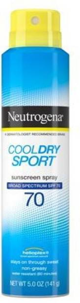 NEUTROGENA cool dry sport sunscreen spray spf 70 ( 141 G ) - SPF 70