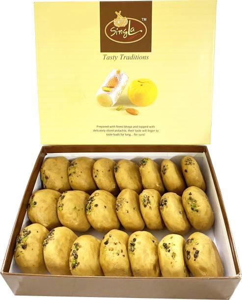 Singla Brown Peda Burfi Sweets 500g Box
