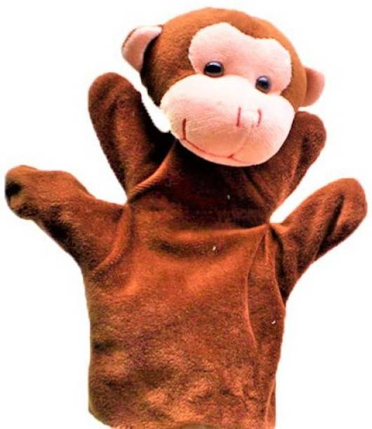 Kuhu Creations Brown Monkey Hand Puppets