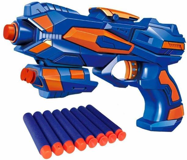 Enorme Foam Blaster Safe and Long Range Galaxy Gun with 8 Pieces Soft Bullet For 3+ Kids Guns & Darts