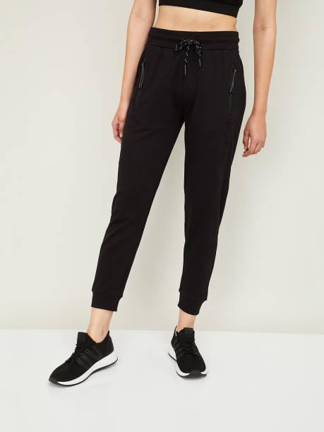 Kappa Solid Women Black Track Pants