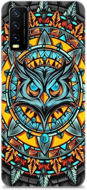 Roochyam Back Cover for Vivo Y20, Vivo Y20i, Vivo Y20s ( Owl Abstract Pattern)